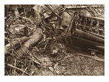 This English Aeroplane Succumbed to Tough Air Combat Near Albert (B/W Photo) Giclee Print by  German photographer
