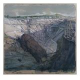 La Calamine, La Vieille Montagne, Opencast Mining, Massif De Dolomie, 1857 (W/C on Paper) Giclee Print by Ignace Francois Bonhomme