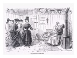 Husband-Taming, Almanack for &#39;59, from &#39;Punch&#39; Magazine, 1859 (Litho) Giclee Print by John Leech