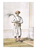 Whisk Bearer, from 'The Hindus, or the Description of their Manners, Costumes and Ceremonies' Giclee Print by Franz Balthazar Solvyns