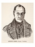 Auguste Comte (Litho) Giclee Print by Tony Toullion