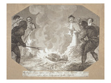 John Wycliff's Bones Dug Up and Burned 41 Years after His Death (Engraving) Giclee Print by  English