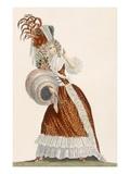 Tres Grande Parue, Plate from 'Galeries Des Modes Et Costumes Francais', C.1778-87 Giclee Print by Jean Florent Defraine