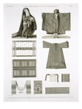 Examples of Silk and Egyptian Costumes, from 'Description of Egypt' Giclee Print by A. & Balzac, C. Dutertre