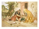 Women Grinding Corn, from 'India Ancient and Modern', 1867 (Colour Litho) Giclee Print by William 'Crimea' Simpson
