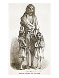 Bridget O'Donnel and Children, from 'The Illustrated London News', 1849 (Engraving) Giclee Print by  English