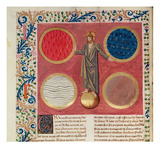 Christ Surrounded by the Four Elements (Vellum) Giclee Print by  French