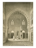 Interior of the Mosque of Qaitbay, Cairo (Litho) Giclée-tryk af French
