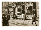 Hunger: Food Riots in Berlin, Germany, 1917 (Sepia Photo) Giclee Print by  German photographer