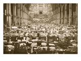 The Sleeping Hall, Alexandra Palace, Illustration from 'German Prisoners in Great Britain' Giclee Print by  English Photographer