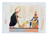 Decoration from the Room of the Harps, East Tomb, Byban El Molouk, Thebes, Volume II, Plate 91 Giclee Print by  French