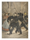 Arrest of a Town Sergent, Illustration from 'Le Petit Journal: Supplement Illustre', 1898 Giclee Print by  French