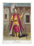 Tchorbadji, Captain of the Janissaries, 18th Century (Engraving) Giclee Print by Gerard Jean Baptiste Scotin