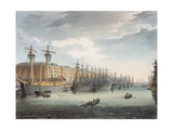West India Docks, 1809 (Coloured Engraving) Giclee Print by T Rowlandson