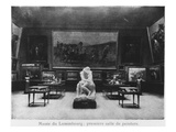First Room of Paintings with the Kiss by Auguste Rodin, Musee Du Luxembourg, Paris, C.1910 Premium Giclee Print by  French Photographer