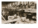 From the German Side: Making War Bread in a Field-Bakery of Von Hindenburg's Army Premium Giclee Print by  German photographer