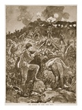 The Attack on Game Tree Fort Giclee Print by Henry Charles Seppings Wright