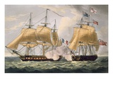 The Capture of La Clorinde, February 26th 1814, Engraved by Thomas Sutherland Premium Giclee Print by Thomas Whitcombe