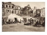 Field Hospital Near Chateau Pinon with Severely Wounded Germans and French (B/W Photo) Giclee Print by  German photographer