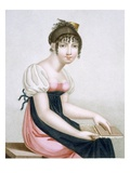 The Carder, Engraved by Augrand, C.1816 (Coloured Engraving) Giclee Print by Madame G. Busset-Dubruste