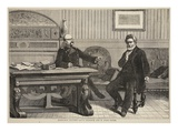 Interview Between Count Bismarck and M. Jules Favre, September 1870 Giclee Print by  French