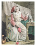 Madame Sans Culotte, C.1789 (Colour Litho) Premium Giclee Print by  French