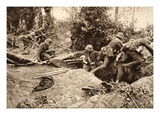 Scene of the Successful Advance of Our Troops at Montdidier, June 1918 (B/W Photo) Giclee Print by  German photographer