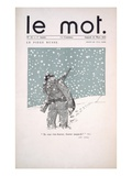 Front Cover of 'Le Mot' Magazine, March 1915 (Colour Litho) Giclee Print by Paul Iribe