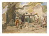 The Village Welll, from 'India Ancient and Modern', 1867 (Colour Litho) Impressão giclée por William 'Crimea' Simpson