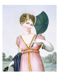 The Flirt, Engraved by Augrand, C.1816 (Coloured Engraving) Giclee Print by Parfait Augrand