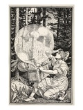 Out Came a Dome of Glass Like a Soap-Bubble, Rising into the Air Giclee Print by Walter Crane