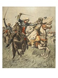 Capture of Samory by Lieutenant Jacquin Giclee Print by  French