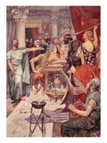 The Quarrel Between Alexander and Cleitus, Illustration from 'Plutarch's Lives for Boys and Girls' Giclee Print by William Rainey