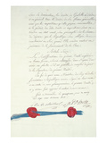 Treaty of Versailles, 15th May 1768 (Pen and Ink on Paper) Giclee Print