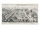 Gardens of the Quirinale, from 'Li Giardini Di Roma', Published C.1683 Giclee Print by Giovanni Battista Falda