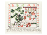 Sacrifice of a Pig and a Goat in Celebration of the Birth of a Child, 1891 (Colour Litho) Giclee Print by  Chinese