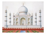 The Taj Mahal (Colour Litho) Giclee Print by  German