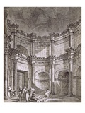 The Temple of Jupiter, from 'Ruins of the Palace of Emperor Diocletian at Spalatro in Dalmatia' Giclee Print by Robert Adam