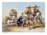 Camels Resting in the Sherkiyeh, Land of Goshen, Illustration from &#39;The Valley of the Nile&#39; Reproduction proc&#233;d&#233; gicl&#233;e par Emile Prisse d&#39;Avennes