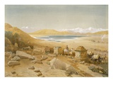Salt Lake - Thibet, from 'India Ancient and Modern', 1867 (Colour Litho) Giclee Print by William 'Crimea' Simpson
