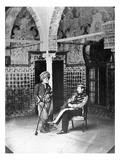 Arab Officers, Algeria (B/W Photo) Giclee Print by Jacques Antoine Moulin