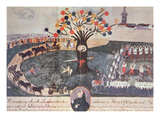 Execution of Ignac Martinovics and His Companions on 20th May 1795 (Gouache on Paper) Giclee Print by  Hungarian
