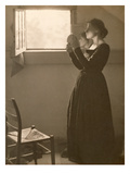 Girl with a Mirror, 1898 (Platinum Print) Giclee Print by Clarence Henry White