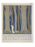 Woman Followed by a Leopard, Illustration from 'Les Mythes' by Paul Valery (1871-1945) Giclee Print by Georges Barbier