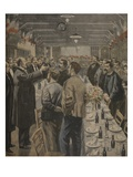 Dinners for the Workers of the Exposition Universelle, 1900 Giclee Print by Fortuné Louis Méaulle