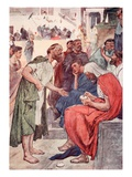 Aristides and the Citizen, Illustration from 'Plutarch's Lives for Boys and Girls' Giclee Print by William Rainey