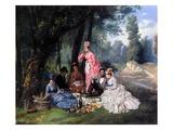 A Summer Luncheon, 1874 Giclee Print by Antonio Garcia Mencia