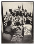 Enviable Perspective: Three Girls Watching the Traditional Parade of the Stormtroops Giclee Print by  German photographer
