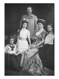 The Archduke Francis Ferdinand of Austria and His Family (B/W Photo) Giclee Print by  Austrian Photographer