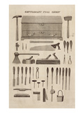 A Gentleman's Tool Chest, from the Catalogue of Cutler and Co. (Engraving) Giclee Print by  English